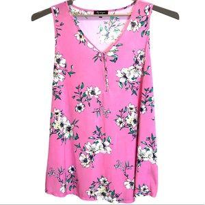 Pretty Floral Sleeveless Tunic Plus sz 3X
